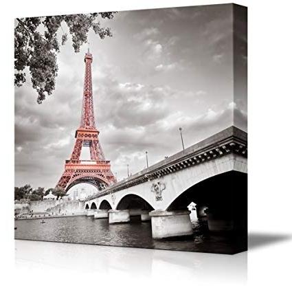 2017 Eiffel Tower Wall Hanging Art Inside Amazon: Wall26 Canvas Prints Wall Art – Eiffel Tower In Paris (View 11 of 15)