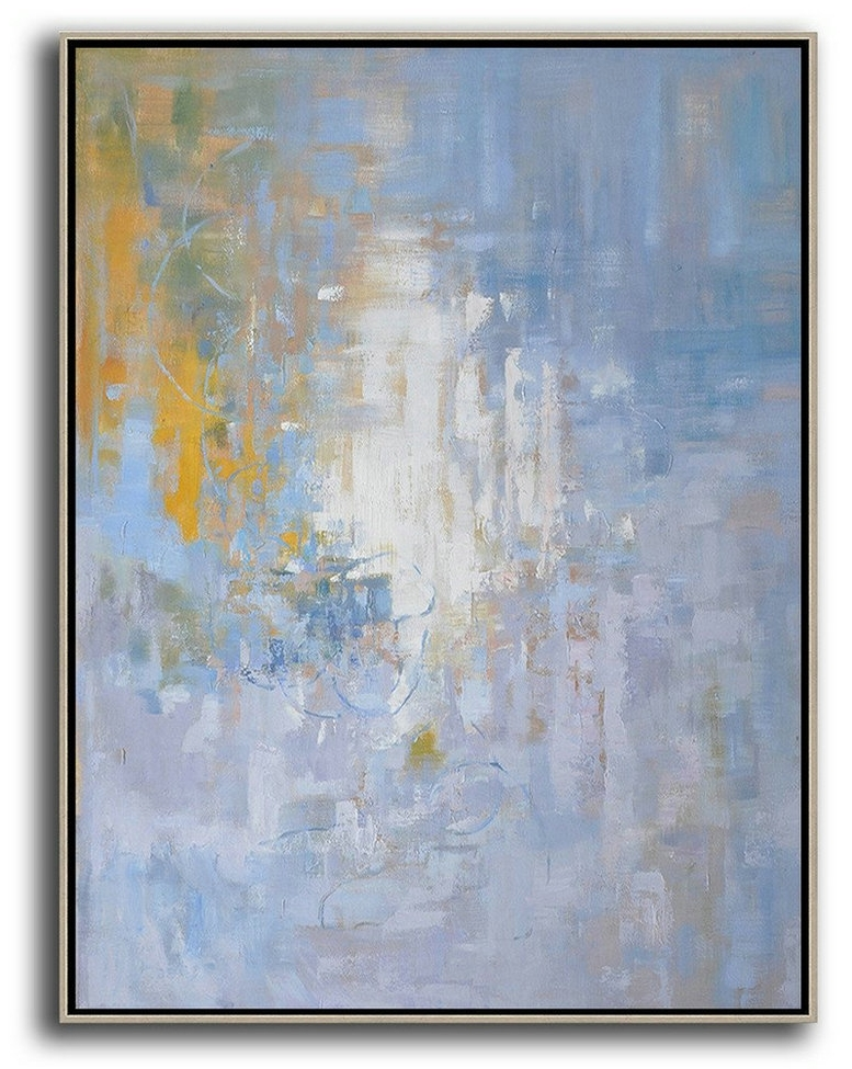 2017 Extra Large 72 Acrylic Painting,oversized Abstract Landscape Intended For Oversized Abstract Wall Art (View 1 of 15)