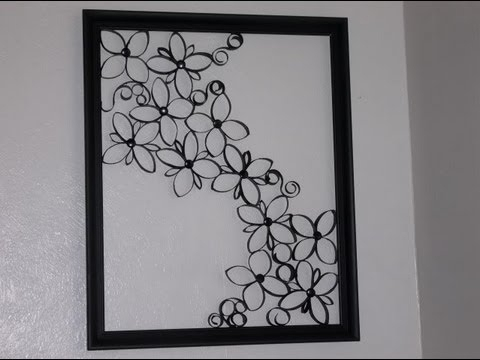 2017 Faux Wrought Iron Wall Art Within Faux Wrought Iron Wall Art For Under $5 – Youtube (View 2 of 15)