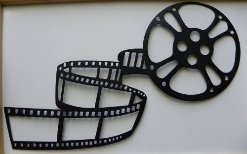 2017 Film Reel Wall Art In Movie Reel And Film Sign Home Theater Decor Metal Wall Art – Wall (View 2 of 15)