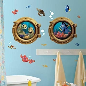 2017 Fish Decals For Bathroom With Amazon: Defonia Finding Nemo 19 Big Wall Decals Kids Bathroom (View 15 of 15)