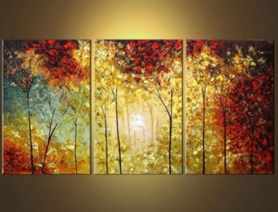 2017 Forest Of Secrets Modern Canvas Art Wall Decor Landscape Oil With Canvas Landscape Wall Art (View 3 of 15)