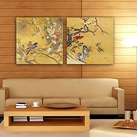 2017 Gallery Canvas Art 2 Piece Canvas Prints Traditional Chinese In Split Wall Art (Gallery 8 of 15)