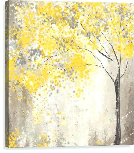 2017 Grey Yellow Wall Art Yellow Gray Wall Art Decor Inspirational Quote Inside Yellow Grey Wall Art (View 9 of 15)
