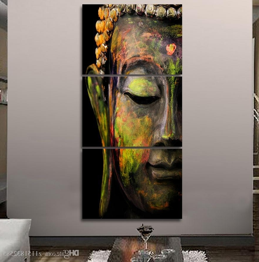 2017 Hd Printed Canvas Wall Art Buddha Meditation Painting Buddha Pertaining To Well Known Abstract Buddha Wall Art (View 1 of 15)
