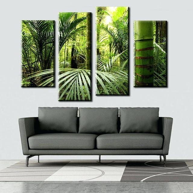 2017 Jungle Canvas Wall Art Wall Art Fallout The Beautiful Tropical For Jungle Canvas Wall Art (View 1 of 15)