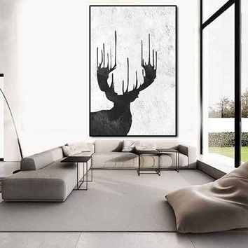 2017 Large Black And White Wall Art Intended For Best Large Black And White Abstract Art Products On Wanelo (View 1 of 15)