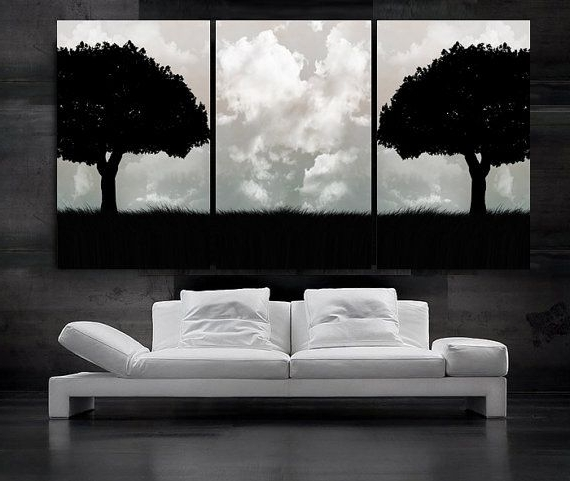 2017 Large Black And White Wall Art With Regard To Wall Art Ideas Design Tree Large Black And White Sample Amusing (View 2 of 15)