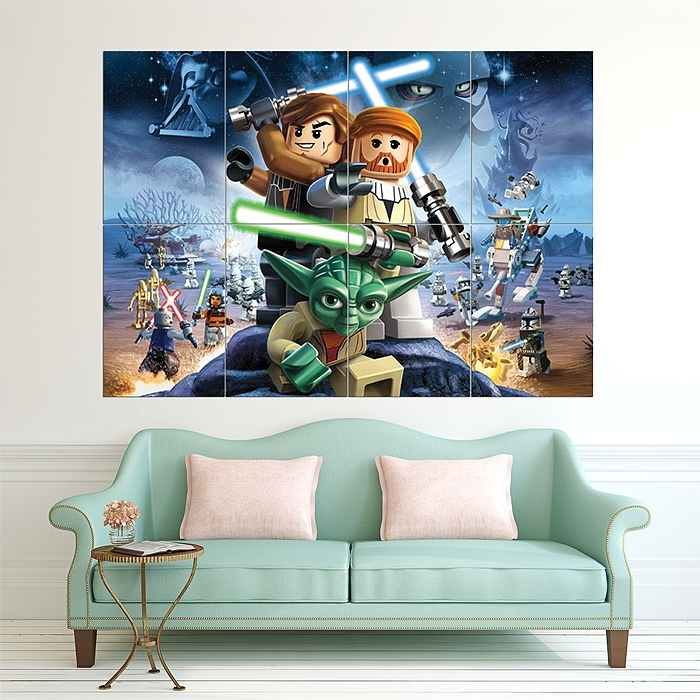 2017 Lego Star Wars Block Giant Wall Art Poster With Regard To Lego Star Wars Wall Art (View 11 of 15)