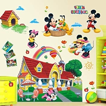 2017 Mickey Mouse Clubhouse Wall Art Inside Amazon: Mickey Mouse Clubhouse 3D Wall Decals Sticker Kids (View 1 of 15)