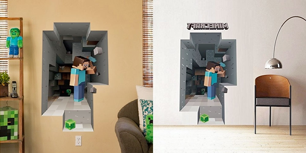 2017 Minecraft Wall Art Luxury On Home Decorating Ideas With Minecraft Pertaining To Minecraft 3D Wall Art (View 1 of 15)