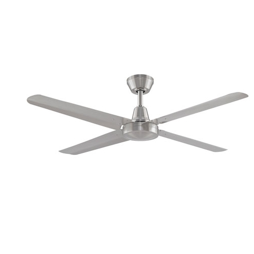 2017 Nickel Outdoor Ceiling Fans Regarding Fanimation Ascension Brushed Nickel 56 Inch 220V Outdoor Ceiling Fan (View 12 of 15)