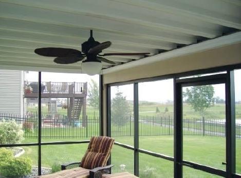 2017 Outdoor Ceiling Fan Under Deck Regarding Double Your Clients' Outdoor Living Spacekeeping The Area Below (View 1 of 15)