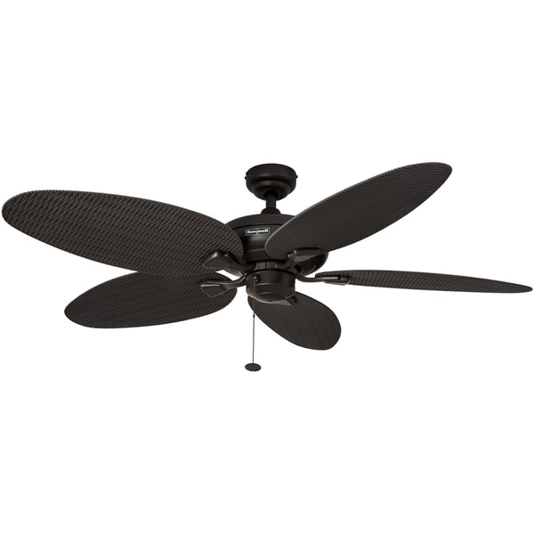 "2017 Outdoor Ceiling Fans With Palm Blades Throughout Shop 52"" Honeywell Duval Bronze Indoor/outdoor Ceiling Fan With (View 15 of 15)"