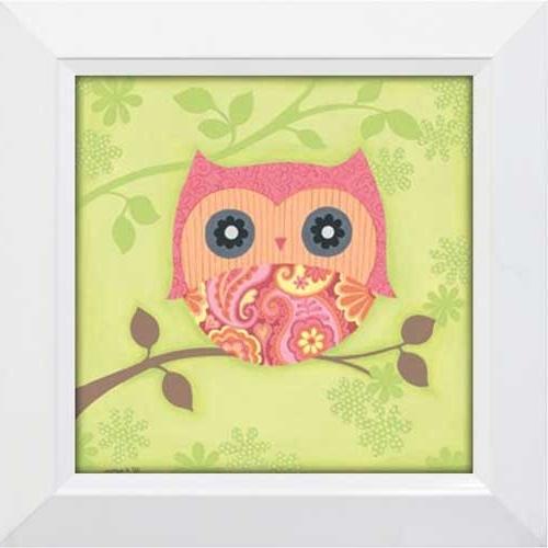 2017 Owl Framed Wall Art For Miss Owl – Framed Canvas Art (View 1 of 15)