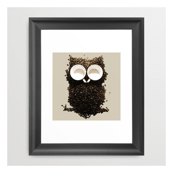 2017 Owl Framed Wall Art With Hoot! Night Owl! Framed Art Print ($42) ❤ Liked On Polyvore (View 2 of 15)