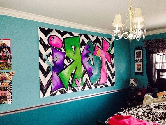 2017 Personalized Graffiti Wall Art In Wall Art Ideas Design : Wow Worthy Designs Personalized Graffiti (View 2 of 15)