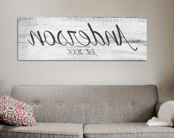 2017 Personalized Last Name Wall Art with regard to Last Name Wall Art - Www.grisly