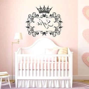 2017 Princess Crown Wall Art Crown Decals For Walls Wall Decal Name Girls Throughout 3D Princess Crown Wall Art Decor (View 9 of 15)
