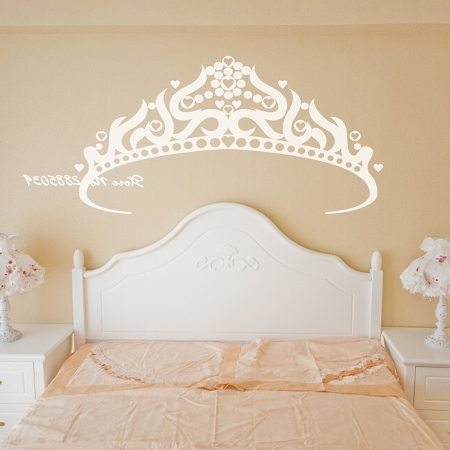2017 Princess Crown Wall Art With Large Princess Crown Wall Stickers Vinyl Pretty Wall Decals Home (View 1 of 15)