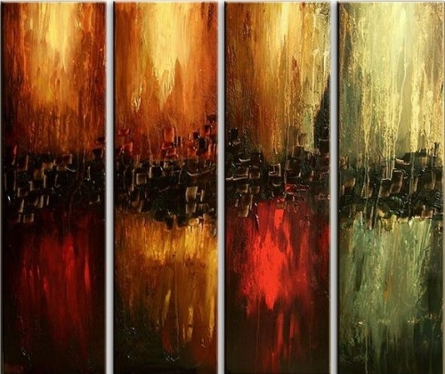 2017 Santin Art Hand Made Oil Painting The Four Elements Modern Canvas With Elements Wall Art (View 14 of 15)
