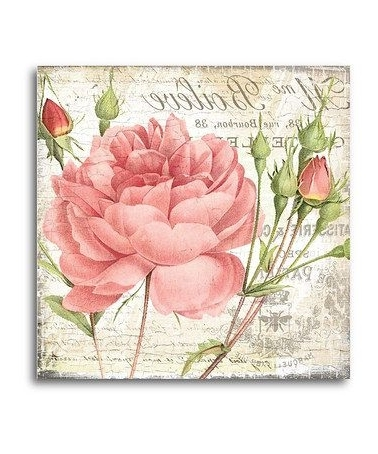 2017 Shabby Chic Canvas Wall Art With Take A Look At This Shabby Chic Roses Ii Canvas Wall Art (View 8 of 15)