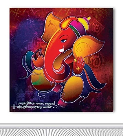 2017 Tamatina Canvas Paintings – Colorful Ganesha – Deepawali Paintings Within Abstract Ganesha Wall Art (View 10 of 15)