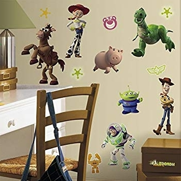 2017 Toy Story Wall Stickers Inside Roommates Disney Toy Story 3 Wall Stickers: Amazon.co (View 4 of 15)