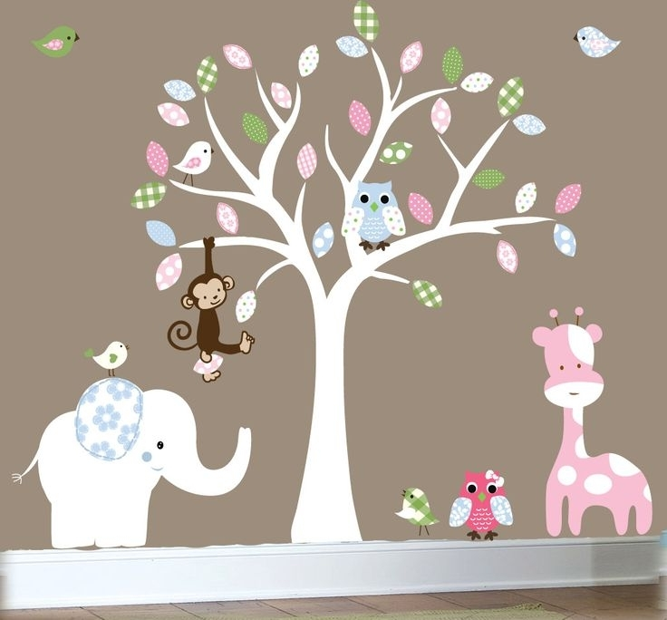 2017 Tree Wall Decals For Nursery Etsy Baby Room Owls Lovely Decal Make Intended For Etsy Childrens Wall Art (View 2 of 15)