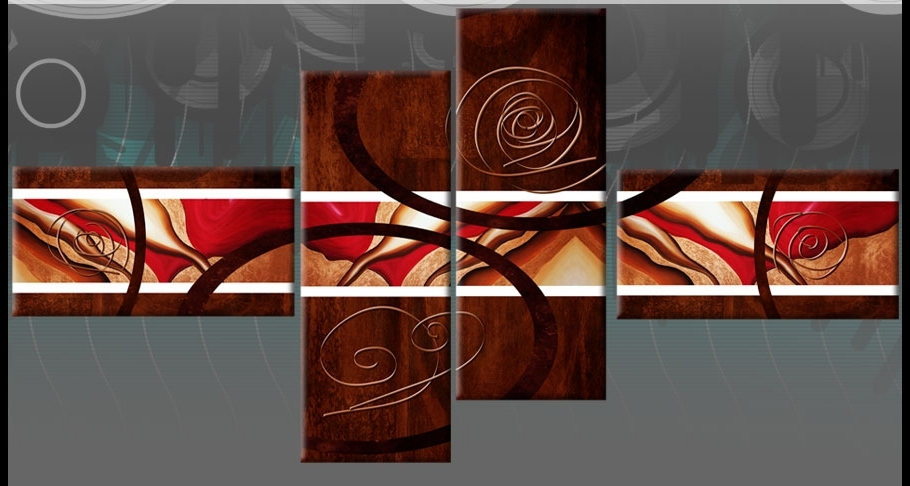 2017 Wall Art Ideas Design : Brown Red Abstract Wall Art Sample Nice For Brown Abstract Wall Art (View 11 of 15)