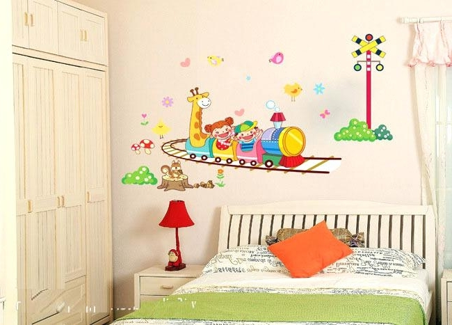 2017 Wall Art Stickers For Childrens Rooms With Regard To Awesome Wall Art Designs Top Stickers Rooms Nursery Part 3 Removable (Gallery 3 of 15)