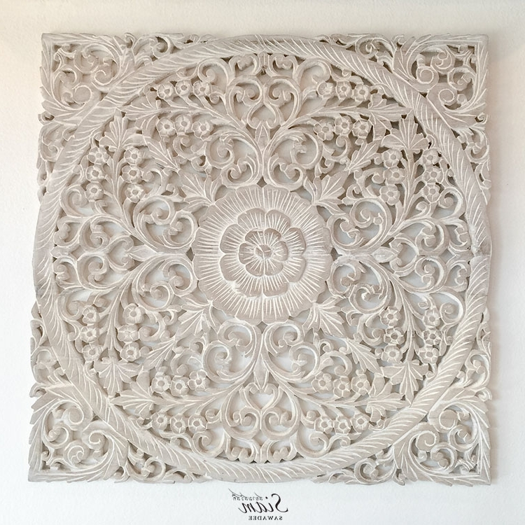 2017 Wood Carved Wall Art Panels Intended For Buy Rustic Antique Wood Carving Wall Art Hanging Online (View 7 of 15)