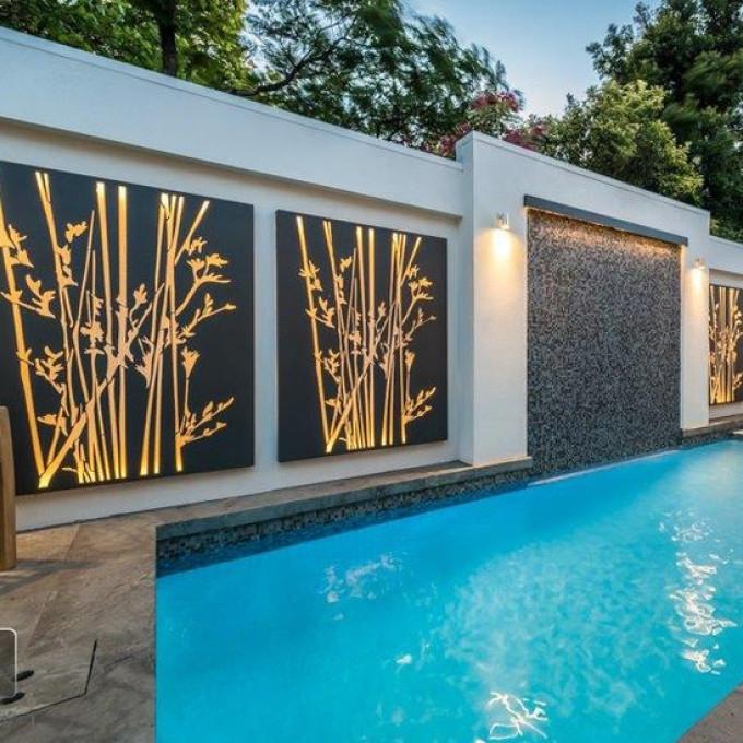 2018 28 Contemporary Outdoor Wall Art, Contemporary Outdoor Wall Art Within Contemporary Outdoor Wall Art (Gallery 12 of 15)