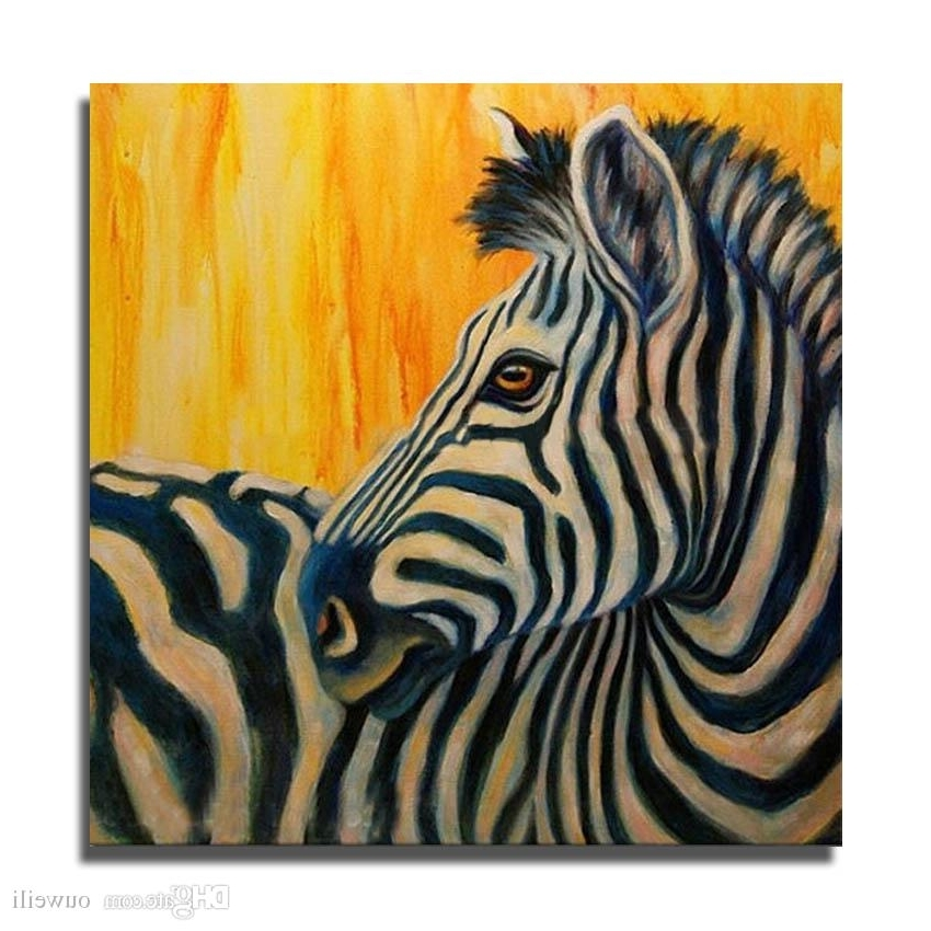 2018 3D Oil Painting On Canvas Hand Painted Animal Zebra Canvas Oil Inside Most Recent Zebra 3D Wall Art (View 2 of 15)