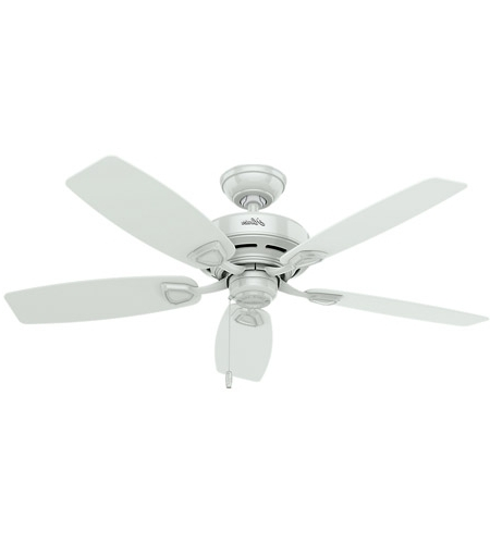 2018 48 Inch Outdoor Ceiling Fans Throughout Hunter Fan 53350 Sea Wind 48 Inch White Outdoor Ceiling Fan (View 14 of 15)