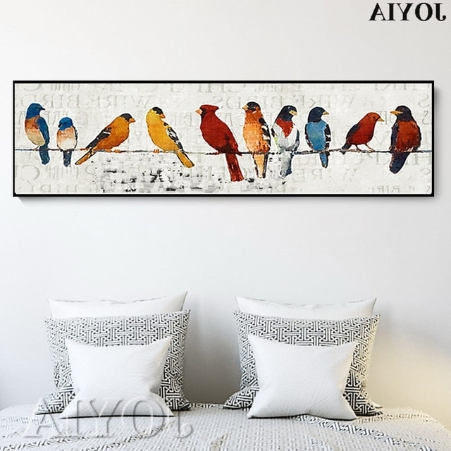 2018 Abstract Bird Picture Classic Decor Sparrow Group Wire Little Birds In Abstract Bird Wall Art (View 2 of 15)