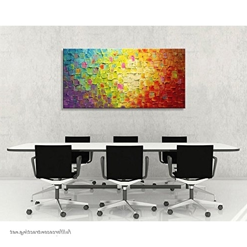 2018 Abstract Living Room Wall Art With Regard To Seekland Art Hand Painted Texture Large Oil Painting On Canvas (View 10 of 15)