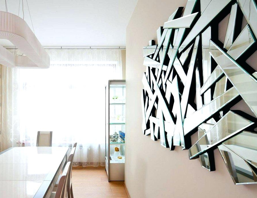 2018 Abstract Mirror Wall Art For Abstract Mirror Wall Art Amazing Buy Mirrored Wall Decor Fretwork (View 1 of 15)