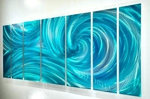 2018 Abstract Ocean Wall Art Intended For Wave Abstract Wall Art Metal Wave Wall Art Wave Abstract Wall Art (View 1 of 15)