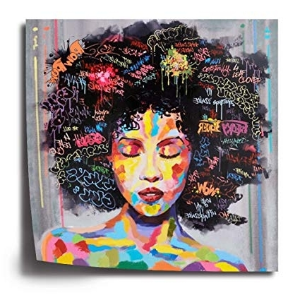 2018 African American Wall Art Inside Amazon: Crescent Art Black Art Unframed African American Wall (View 1 of 15)