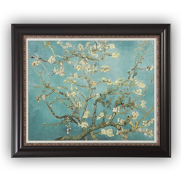 2018 Almond Blossoms Vincent Van Gogh Wall Art Throughout Wexfordhome 'almond Blossom'vincent Van Gogh Framed Painting (View 11 of 15)