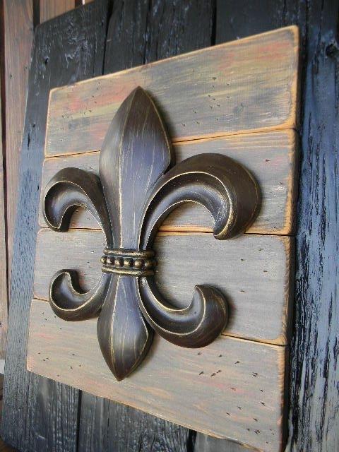 2018 Amazing Chic Fleur De Lis Wall Art Interior Decor Home Ideal Deco For Metal Fleur De Lis Wall Art (View 4 of 15)