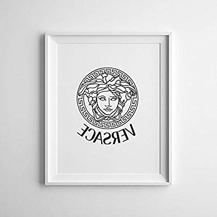 2018 Amazon: Magictrees And Bumblebees Versace Logo Print/versace Pertaining To Versace Wall Art (View 9 of 15)