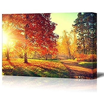 2018 Amazon: Wall26 Canvas Prints Wall Art - Colorful Autumn with regard to Canvas Landscape Wall Art