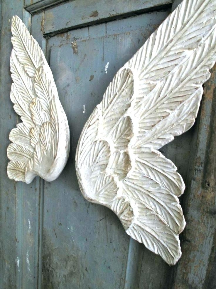 2018 Angel Wings Sculpture Plaque Wall Art Within Wings Wall Art Angel Wings Urban Wall Artdetroit Red Wings Wall (View 8 of 15)