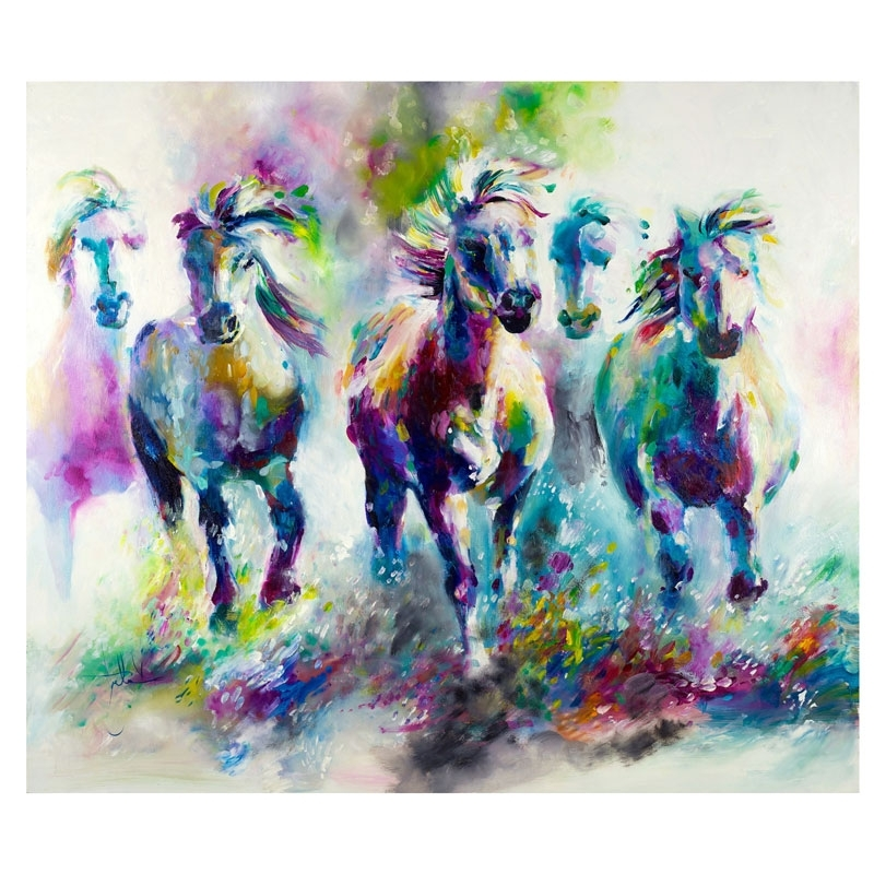 2018 Animal Pattern Picture Home Wall Decor Modern Abstract Canvas Oil Throughout Abstract Animal Wall Art (View 2 of 15)