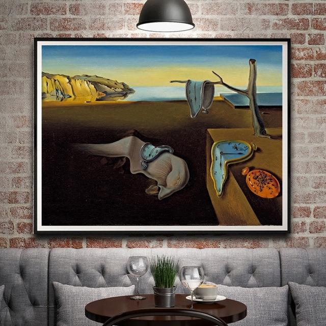 2018 Artwork Painting Salvador Dali Clocks Surreal Classic Art Silk Intended For Salvador Dali Wall Art (View 4 of 15)