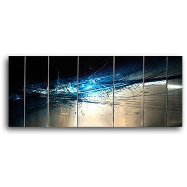 2018 Ash Carl Metal Art intended for Shop Ash Carl 'forever' 7-Panel Abstract Metal Wall Art - On Sale