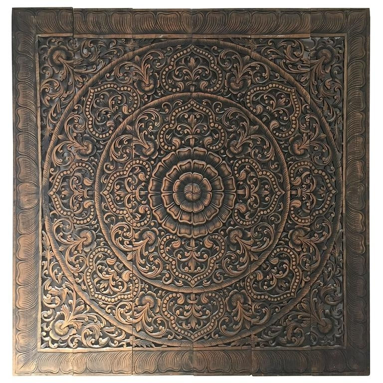 2018 Balinese Wall Art Pertaining To Hand Carved Balinese Oversized Decorative Teak Wall Or Ceiling Art (View 3 of 15)