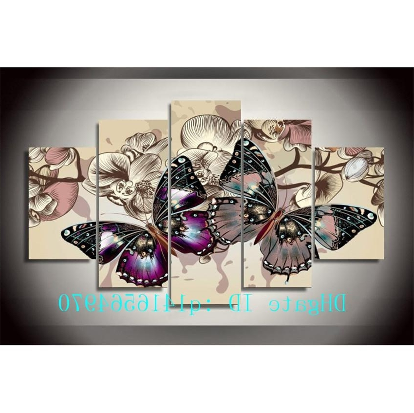 2018 Beautiful Butterfly,canvas Prints Wall Art Oil Painting Home Regarding Newest Butterfly Canvas Wall Art (View 13 of 15)